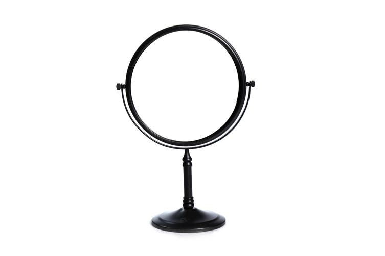 Dolphy 5X Magnification Tabletop Shaving & Makeup Vanity Mirror 8 Inch - Black