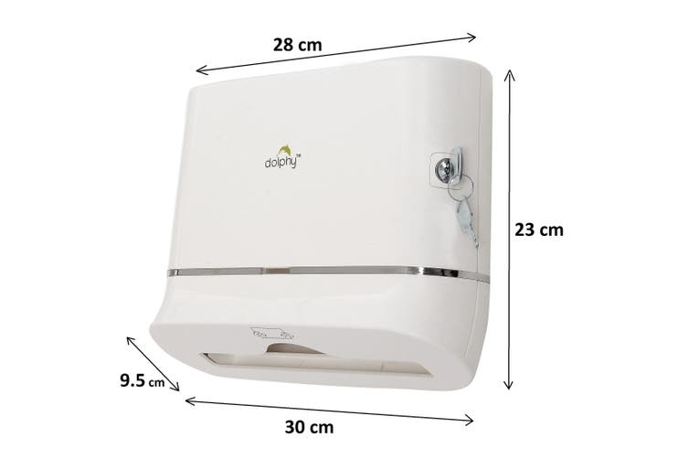 Dolphy Multifold Hand Paper Towel Dispenser - White