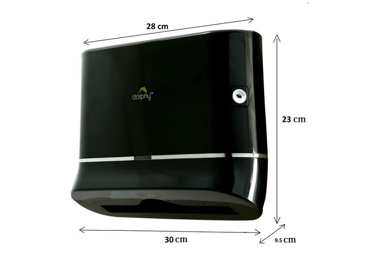 Dolphy Multifold Hand Paper Towel  Dispenser - Black