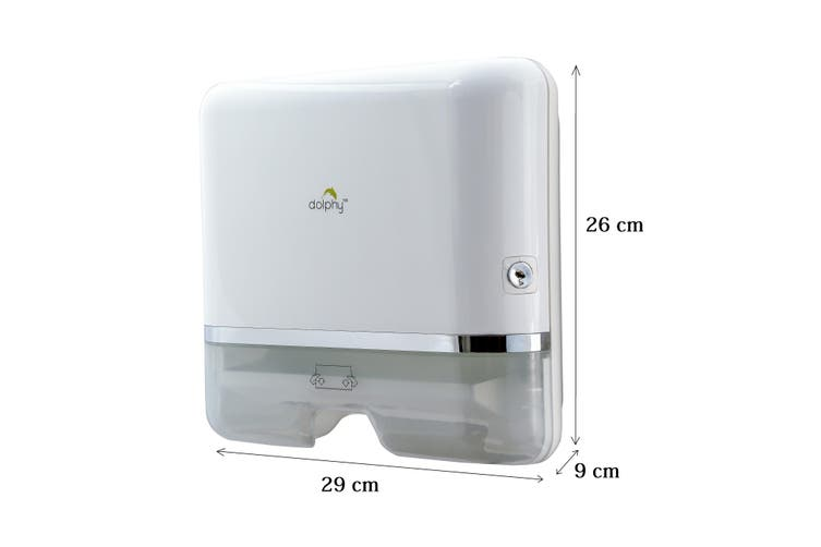 Dolphy Multifold Hand Paper Towel Dispenser - Silver