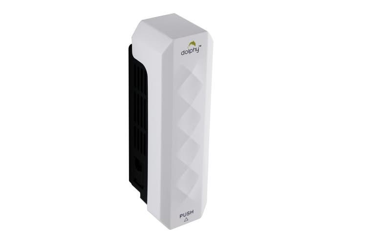 Dolphy ABS Diamond Cut Liquid Soap Dispenser 300ML - White