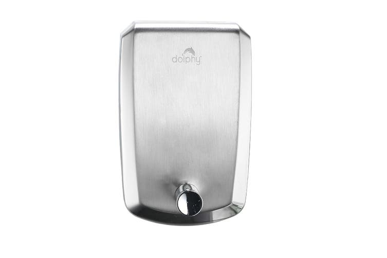 Dolphy 304 Stainless Steel Liquid Soap Dispenser 1000ML - Silver