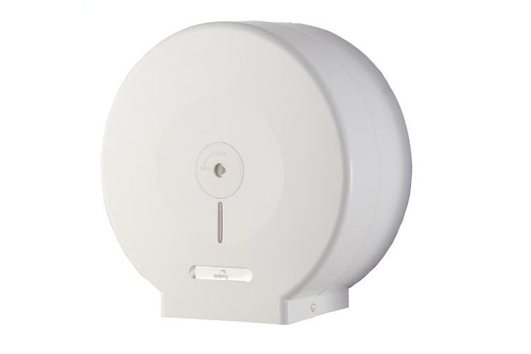 Dolphy Anti-Dust Jumbo Toilet Paper Roll Dispenser - White