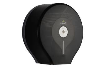 Dolphy Wall Mounted Jumbo Toilet Paper Roll Dispenser - Black