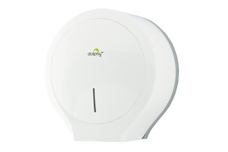 Dolphy Wall Mounted Jumbo Toilet Paper Roll Dispenser - White