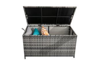 Outdoor PE Wicker Storage Box Garden 320L-Grey