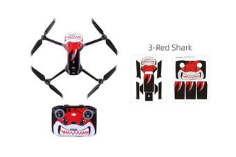 Sunnylife Protective PVC Stickers Skin for Mavic Air 2 (Red Shark)