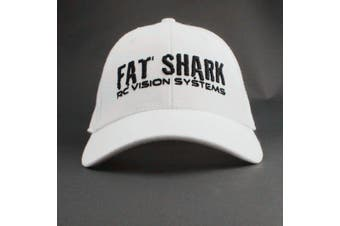 Fat Shark White Ball Cap