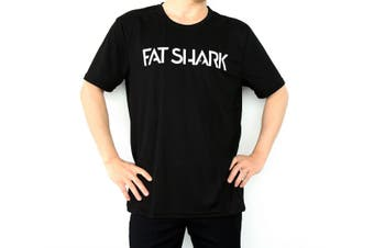 Fat Shark Black T-Shirt (Size L)