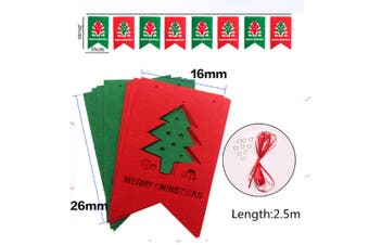 2 Pack Of Christmas Banner Burlap Christmas Party Bunting Garland For Outdoor Indoor Decorations Flag