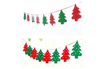 2 Pack Of Christmas Banner Burlap Christmas Party Bunting Garland For Outdoor Indoor Decorations Tree