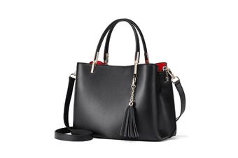 Tassel Inclined Shoulder Bag Purses Cross Body Handbags Trendy Bags For Women Black
