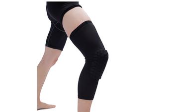 Knee Pad,Leg Sleeve Knee Brace Knee Support,Honeycomb Crashproof Black S
