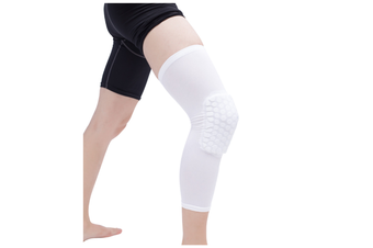 Knee Pad,Leg Sleeve Knee Brace Knee Support,Honeycomb Crashproof White M