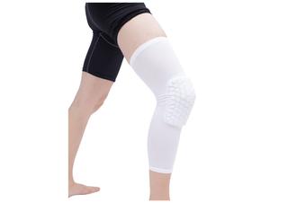 Knee Pad,Leg Sleeve Knee Brace Knee Support,Honeycomb Crashproof White Xl