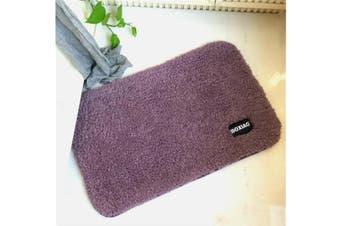 Inside Floor Dirt Trapper Mat Cotton Entrance Rug Shoe Scraper Washable Carpet Purple 50X60Cm