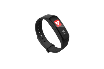 Smart Bracelet Waterproof Blood Pressure Heart Rate Monitor Smart Wrist Black
