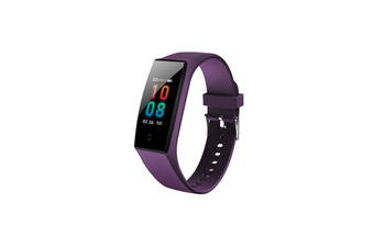 Bluetooth Heart Rate Monitor Fitness Tracker Smart Wristband Purple