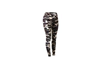 Camouflage Leggings For Women Compression Sport Leggings Yoga Leggings - Brown Brown XL