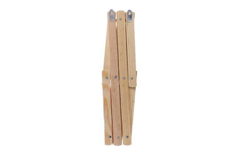 2Pcs Wooden Hanger Rack Clothes Coat Wall Mounted Hanging Hat Towel Hook Retractable