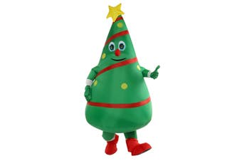Costume Christmas Tree Inflatable Adult Halloween Party Fancy Dress Mens Prop Decorations