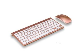 Wireless Ultra-Thin Mini Mouse Keyboard Set Usb Wireless Key Mouse Set - Rose Gold Gold