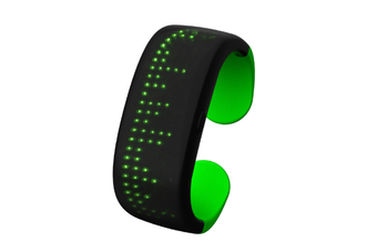 WJS Creative Button Control Dynamic Display LED Display Light Bracelet Suitable for Bar Party Birthday Atmosphere Night-Green