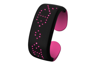WJS Creative Button Control Dynamic Display LED Display Light Bracelet Suitable for Bar Party Birthday Atmosphere Night-Pink