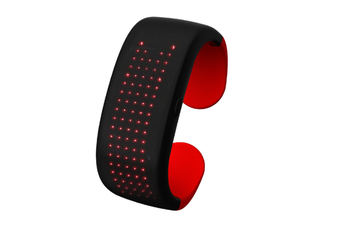 WJS Creative Button Control Dynamic Display LED Display Light Bracelet Suitable for Bar Party Birthday Atmosphere Night-Red