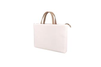 WJS 13.3 Inch Waterproof and Wear-resistant Ladies One-shoulder Portable Laptop Bag Liner Bag Business Briefcase-White