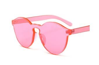 Fashion Retro Candy Color Transparent Frameless Cat Eye Sunglasses