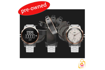 Pre-owned iFit Duo Round Cloud Activity Tracking Watch - White