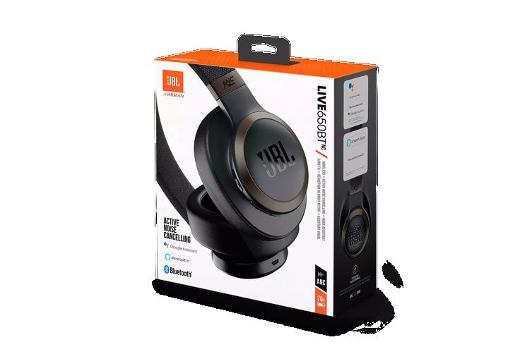 JBL Live 650BTNC Wireless Over-Ear Noise-Cancelling Headphones - Black