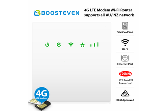 BOOSTEVEN R0519 -4G LTE SIM card Modem Wi-Fi Router with 700MHz Band 28  and 2 Ethernet Ports