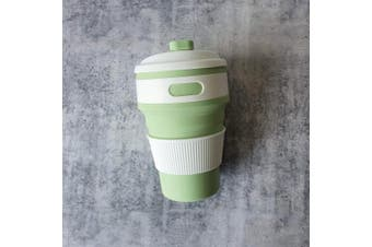 Collapsible Coffee Cup | Sea Green | Foldable Cup | Travel Cup | Hot or Cold Drinks | Zero Waste | Eco Friendly