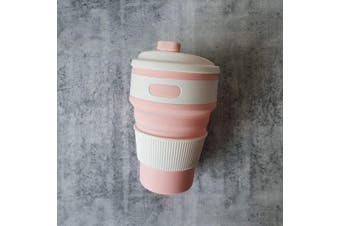 Collapsible Coffee Cup | Blush Pink | Foldable Cup | Travel Cup | Hot or Cold Drinks | Zero Waste | Eco Friendly