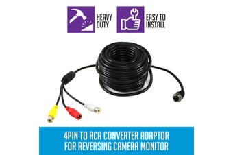 Elinz 4PIN to RCA Converter Adaptor for Reversing Camera Monitor