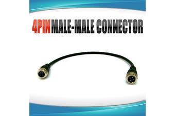 Elinz 4PIN Male to Male connector for 4PIN Reversing Camera