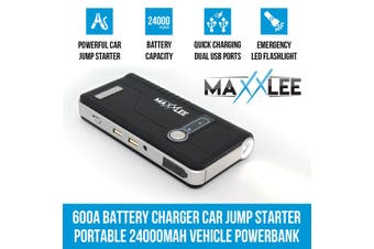 Maxxlee 600A Battery Charger Jump Starter Portable 24000mAh 12V Vehicle Car Elinz