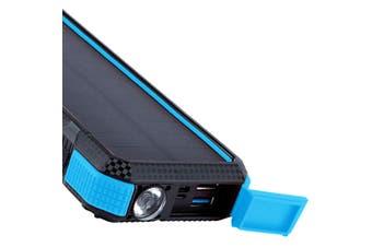 Maxxlee 20000mAh Qi Wireless Charger Solar Power Bank 18W PD Type C QC3.0 Dual USB Fast Charging BLUE