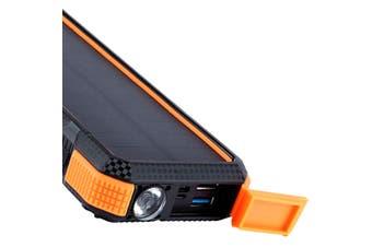 Maxxlee 20000mAh Qi Wireless Charger Solar Power Bank 18W PD Type C QC3.0 Dual USB Fast Charging ORANGE