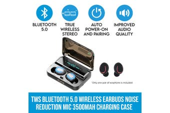 Elinz TWS Bluetooth 5.0 Wireless Ear Buds Headphone Headset Noise Reduction MIC 3500mAh Charging Case LED Display IP65 Call & Music