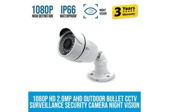 Elinz 1080P HD 2.0MP AHD Outdoor Bullet CCTV Surveillance Security Camera Night Vision