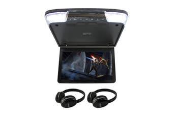 "Elinz 11.6"" IPS Roof Mount Car DVD Player Slim 1080P Flip Down Monitor Black"