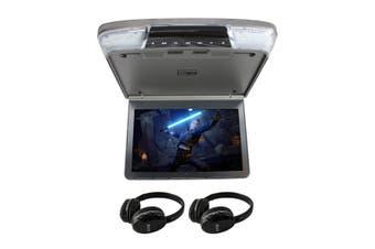 "Elinz 11.6"" IPS Roof Mount Car DVD Player Slim 1080P Flip Down Monitor Grey"