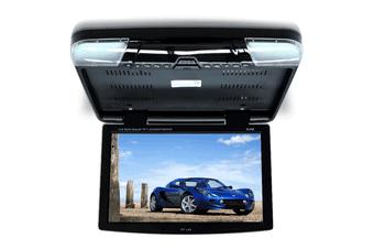 """Elinz 15.6"""" DVD player Roof mount In Car Flip Down Monitor HDMI suit 12V/24V vehicle BLACK"""