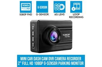 "Elinz Entry Level Mini Car Dash Cam DVR Camera Recorder 2"" Full HD 1080P G-Sensor Parking Monitor"