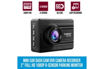 "Elinz Entry Level Mini Car Dash Cam DVR Camera Recorder 2"" Full HD 1080P G-Sensor Parking Monitor"