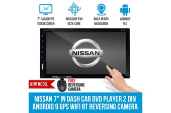 """Elinz Nissan 7"""" In Dash Car DVD Player 2 DIN Android 9 GPS WiFi BT Reversing Camera T3"""
