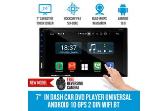 "Elinz 7"" In Dash Car DVD Player Universal 2 DIN Android 10 GPS WiFi BT Reverse Camera"